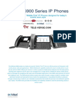 cloud based VOIP phone system including the Mitel 6900 Series