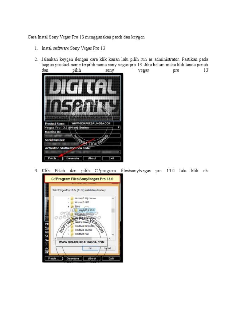 sony vegas 13 keygen digital insanity