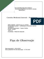 Foaia de Observatie Clinica Tina