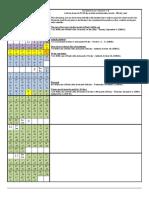 Calendar Fall 2388 - Fall 2387 BC - 29 and 30 Days Monthly Noah's Bithday