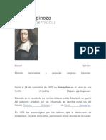 Biografia Baruch Spinoza