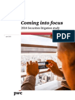 2014 Securities Litigation Study