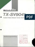 Manual TX-SV9041 De