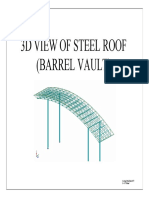 Double layer barrel vault over a gatehouse.