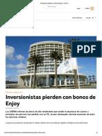 Inversionistas Pierden Con Bonos de Enjoy - PULSO
