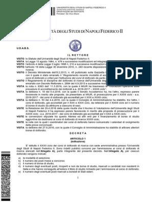 Calendario Accademico Unina.Ciclo32 10 Bandoscaduto Allegati Thesis Further Education