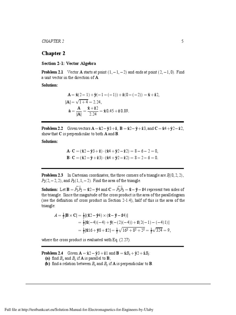 Solution-Manual-for-Electromagnetics-for-Engineers-by-Ulaby.pdf |  Coordinate System | Plane (Geometry)
