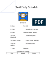 Indian Trail Daily Schedule