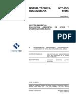 NTC ISO14015 2002 EvaluacionAmbientaldeSitios