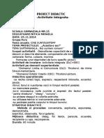 Proiect Didactic Noi Suntem Romani