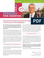 Lettre de candidature - Argenteuil