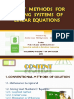 DIRECT  METHODS  FOR SOLVING  SYSTEMS OF LINEAR EQUATIONS
