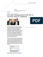 diversity management is the key to growth- make it authentic