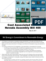 Cost associated with Nevada Assembly Bill 405