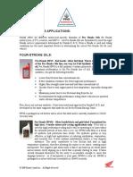 Honda Motorcycle Oils and Applications
