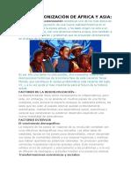 La Descolonización de África y Asia