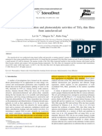 LE 1 2007 Fabrication, Characterization and Photocatalytic Activities of TiO2 Thin Films From Autoclaved-sol