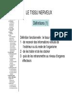 2011 Tissu Nerveux L0