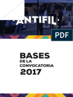 Bases de la convocatoria ANTIFIL 2017