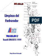 Manual de Limpieza Del Carburador Suzuki DR 350