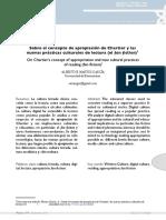 Sobre el concepto de apropiación de Chartier y las nuevas prácticas culturales de lectura