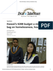 Hawaii's $28B budget a mixed bag on homelessness, housing