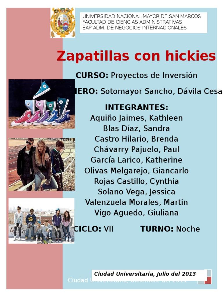 Proyecto Zapatillas De docx De Proyecto Sustitucion E2YeD9WHbI