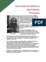 Bakunin Mijail - Consideraciones Filosoficas