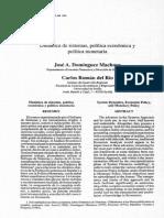 Dinámica de Sistemas y La Política Económica