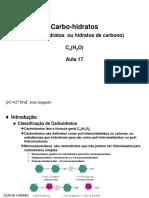 Aula 17 Carboidratos