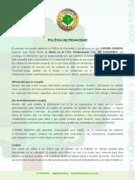 COPAIBA AGENCIA - Política de Privacidad