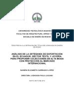 Análisis de la artesanía de exportación en el Ecuador.pdf .pdf