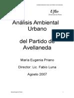 Análisis Ambiental Urbano Del Partido de Avellaneda