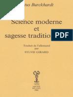 Titus Burckhardt Science Moderne Et Sagesse Traditionnelle
