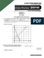 2016 Spm Maths - Paper 2