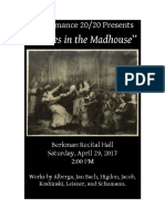 2020 Dances in the Madhouse Poster