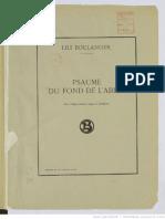 Boulanger - Psalm CXXX