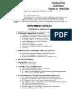 Proforma Graduacion 25 Alumnos Economia 2015
