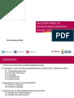 Encuesta Microestableciminetos en Colombia 2014-2015