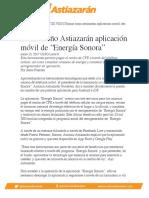 """Lanza Toño Astiazarán aplicación móvil de """"Energía Sonora"""""""