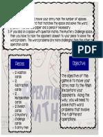 game sheet