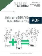 Listadeexercicios Matematica2 de Cara Pro Enem Triangulos Quadrilateros e Poligonos 06-10-2016