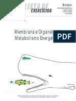 Listadeexercicios Biologia Membrana Organelas Metabolismo Energetico 07-11-16