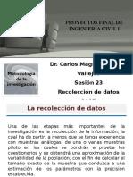 23 Sesión - Recolección de Datos
