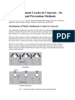 Plastic Settlement Cracks in Concrete