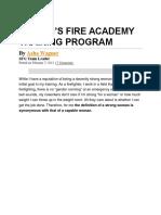 Women Firefighter Training Program