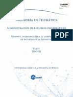Unidad 1 Introduccion a La Administracion de Recursos Telematicos