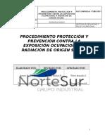 Procedimiento Protección y Prevención Contra La Exposición Ocupacional a Radiación de Origen Solar.