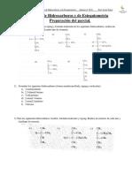 Ejercicios de Hidrocarburos y de Estequiometria Para El Parcial