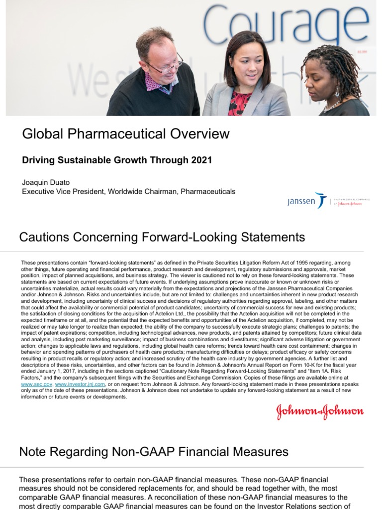 JNJ Pharmaceutical Joaquin Duato Slides | National Institutes Of